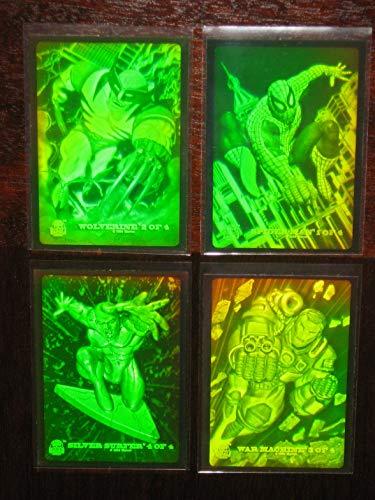 - 1994 Marvel Universe Hologram Insert Set of 4 Cards (Spider-Man, Wolverine++) NM/M
