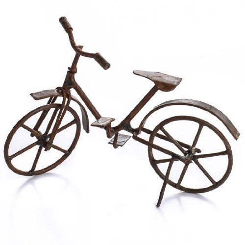 Pair of Retro Look Miniature Metal Bicycles for Dollhouses, Crafting and Creating by Whimsical Additions