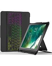 """Inateck Tastatur Hülle kompatibel mit iPad 9.7"""",QWERTZ Layout, abnehmbare Bluetooth Tastatur mit DIY Hintergrundbeleuchtung, KB02004"""