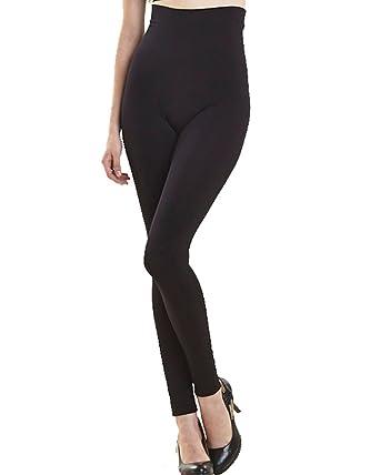 9b18862da4 Undercover Seamless High Waist Full Length Seamfree Slimming Shaping Control  Leggings BLACK  Amazon.co.uk  Clothing