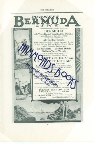 Advertisement for Furness Bermuda Line -