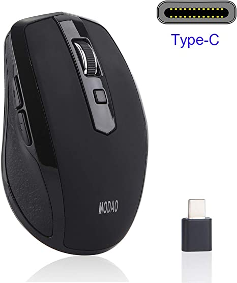 MODAO 2.4GHZ Type C Wireless Mouse USB C Mice For Macbook// Pro USB C Devices
