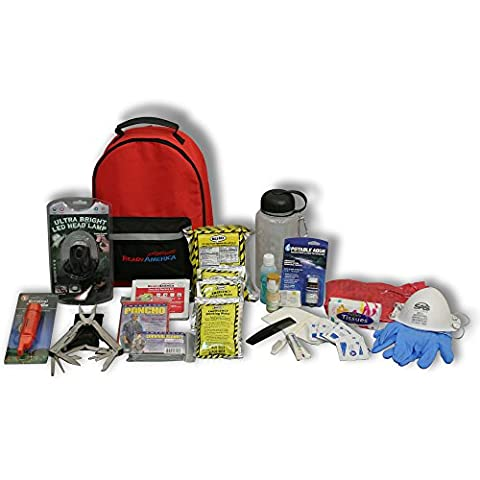 Ready America 70185 Deluxe Emergency Kit 1 Person 3 Day Backpack - 3 Day Emergency Survival Kit