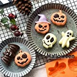 ANMAIKER Silicone Baking Molds, 2 PCS Halloween
