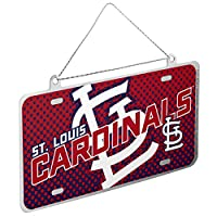 St. Louis Cardinals Official MLB 4 inch x 2 inch Metal License Plate Christmas Ornament by Forever Collectibles 236165