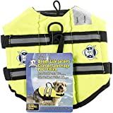 #9: Paws Aboard Designer Doggy Life Jacket, Neon Yellow, X-Small