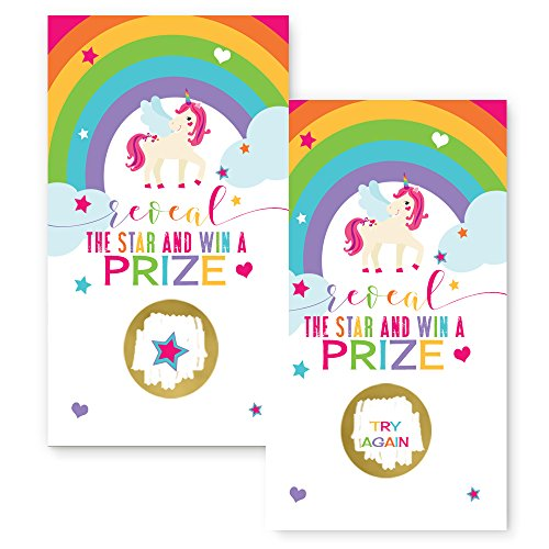 Unicorn Scratch Off Party Game Card Set of 28 by Paper Clever Party