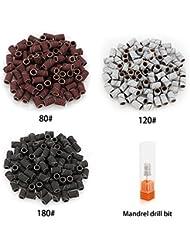 Belle 300pcs Sanding Bands Grit File For Professional Nail Manicure Drill 3 colors(80# 120# 180# each 100pcs)