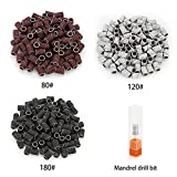 Belle 300pcs Sanding Bands Grit File For Professional Nail Manicure Drill 3 colors(80# 120# 180# each 100pcs)