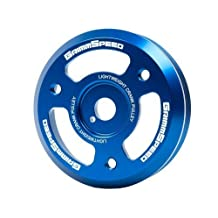 GrimmSpeed 095022 Blue Lightweight Crank Pulley for 2015+ Subaru WRX BRZ Legacy Impreza / Scion FR-S by GrimmSpeed