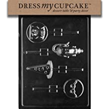 Dress My Cupcake DMCK114 Chocolate Candy Mold, Harry The Potter Wizard Assorted Lollipop