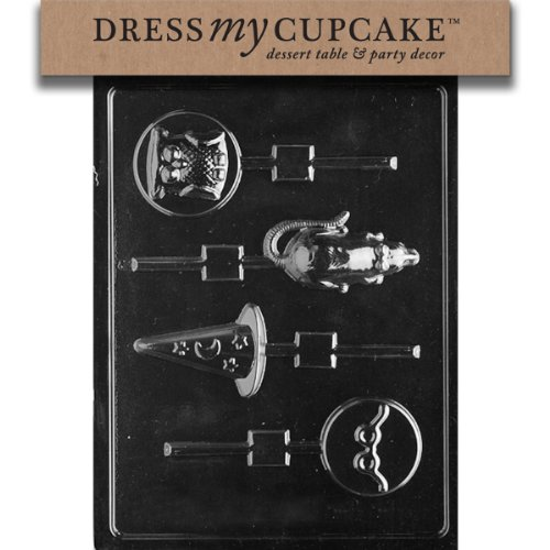 Dress My Cupcake Chocolate Candy Mold, Harry The Potter Wizard Assorted Lollipop