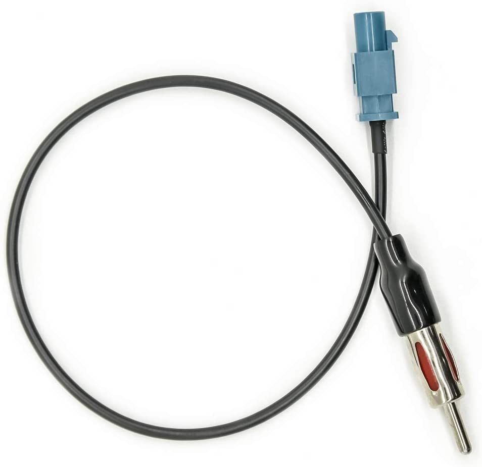 Vecys Cable Adaptador Fakra a DIN Adaptador Fakra Z Radio Coche TV Dab+ GPS Conector Fakra Z a DIN Pigtail Cable Fakra RG174 12inch 30cm Compatible con Antena Radio FM/Am Asiento Blaupunkt