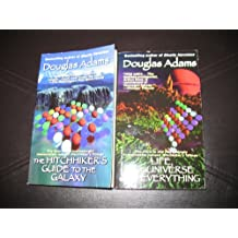 2 Book Set by Douglas Adams~ The Hitchhiker's Guide to the Galaxy/Life, The Universe and Everything