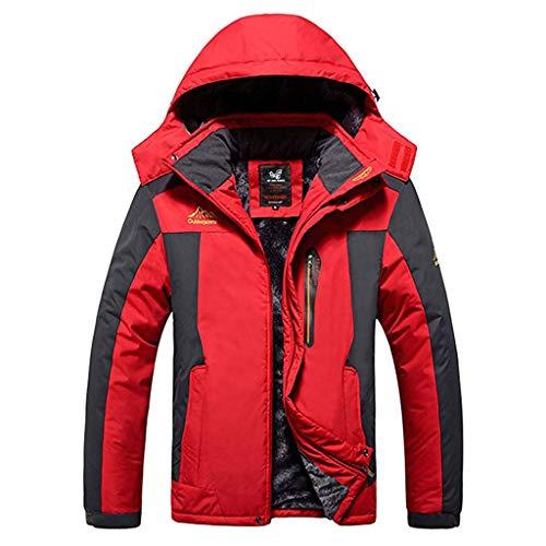 GOVOW Men's Mountain Ski Jacket Windproof Rain Jacket