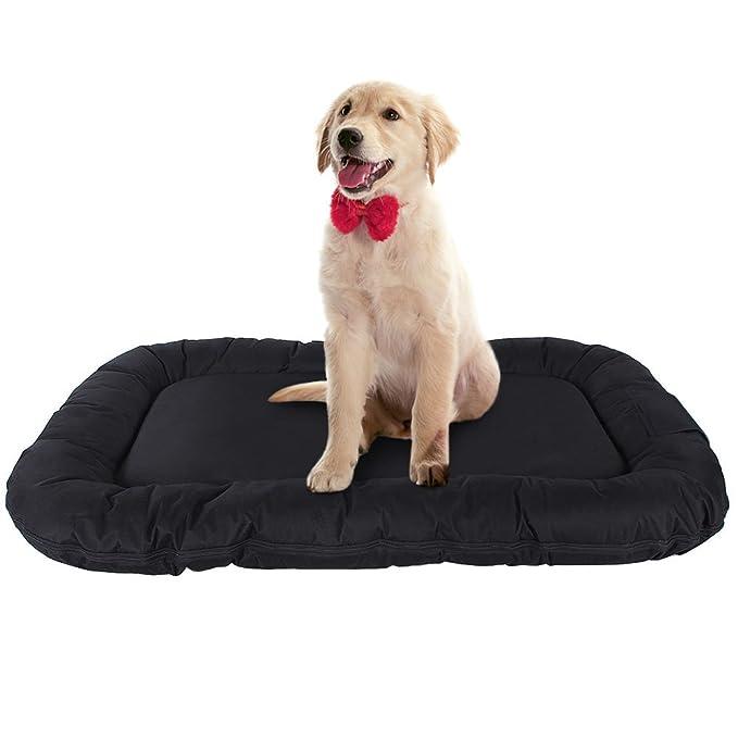 SONGMICS Cómodo Casa para Mascotas, Cama para Perros Perrera 80 x 60 x 15 cm PGW60H