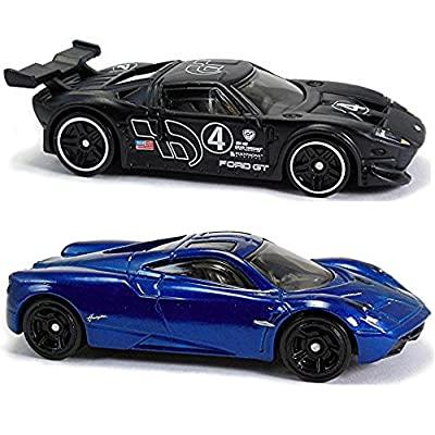 Hot Wheels 2016 Gran Turismo Ford GT LM & Pagani Huayra 2-Car Bundle Set: Toys & Games