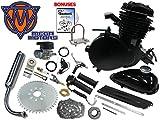 66/80cc Mega Motors Black Bicycle Engine Kit- 2 Stroke