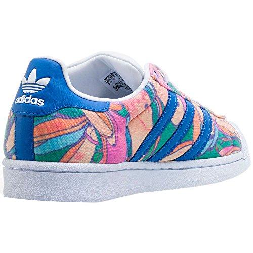 Damen Laufschuhe, farbe Farbe Blumen , marke ADIDAS ORIGINALS, modell Damen Laufschuhe ADIDAS ORIGINALS SUPERSTAR W Farbe Blumen lab blue/lab blue/ftwr white