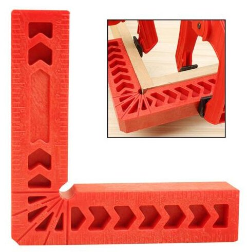 BestEquip Carpenter's Square Right Angle 90 Degrees L-Shaped Auxiliary Fixture Woodworking