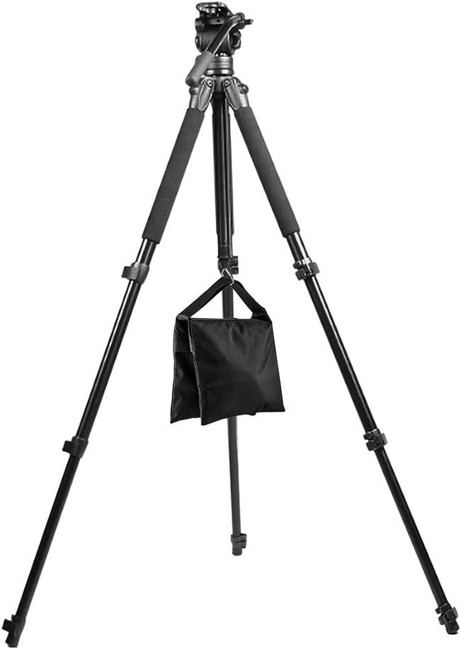 Fotover Sandsack Fotografie Studio Video Heavy Duty Sandsack Sand Tasche for Fotostudio Licht Stehen Boom Arm Kamera Stativ mit Haken,3 Pack Schwarz