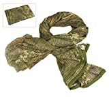 LOOGU Camouflage Netting, Tactical Mesh Net Camo Scarf for Wargame,Sports & Other Outdoor Activities
