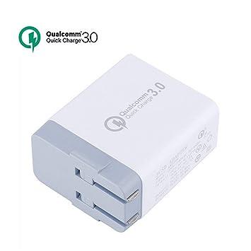 ZYJ Cargador rápido para teléfono móvil, 3 Puertos USB ...