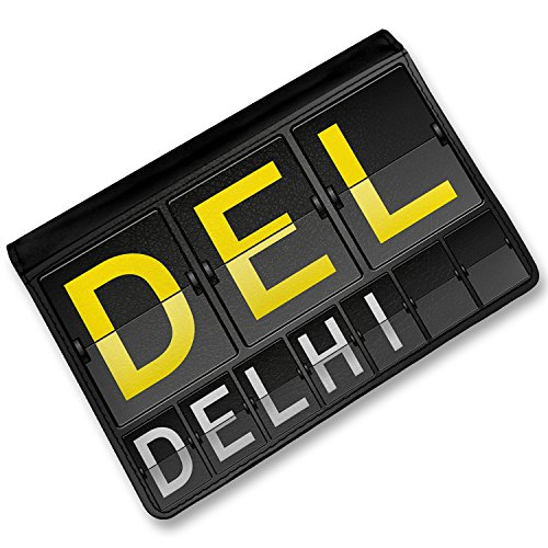 Delhi Cover (RFID Passport Holder DEL Airport Code for Delhi, Cover Case / Wallet -)