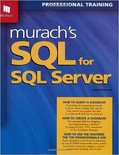 Murachs SQL for SQL Server with CDROM
