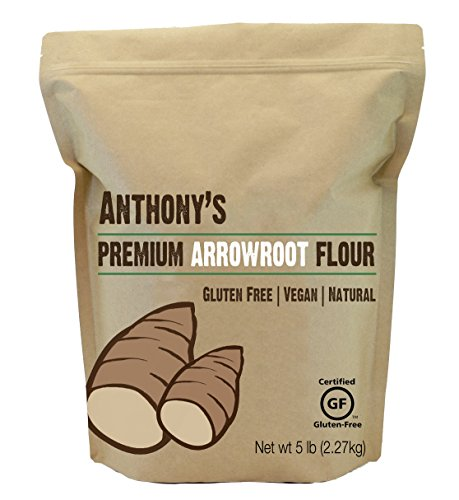 Arrowroot Flour (5 Pounds) by Anthony's, Certified Gluten-Free