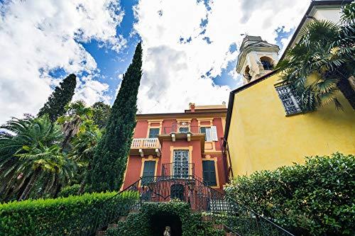 Home Comforts Framed Art for Your Wall Villa Italian Liguria Italy House Big Summer Vivid Imagery 10 x 13 Frame