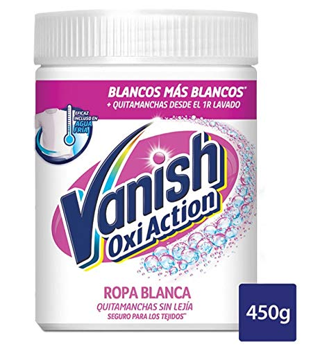 Vanish Quitamanchas sin Lejía Oxi White Polvo - 450 gr: Amazon.es ...