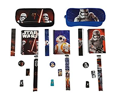 Disney Star Wars Pencil case/Pouch with Stationery (26 pcs) Pack