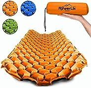 Powerlix - Colchoneta de dormir ultraligera inflable, la mejor almohadilla de autoporción para camping, mochil