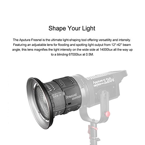 Aputure Lightstorm COB 120D 135W 6000K Daylight Balanced LED Continuous  Video Light with Barn Door, Honeycomb Grid, Color Filters and PERGEAR  Cleaning
