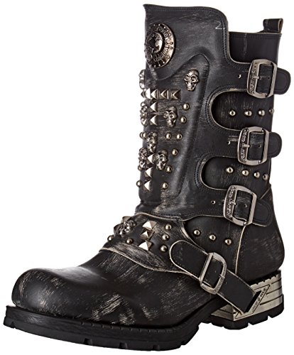 New Rock Mens M.MR019-S2 Leather Boots Black
