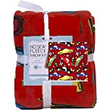 Cars No-Sew Throw Anti-Pill Fleece Fabric Kit