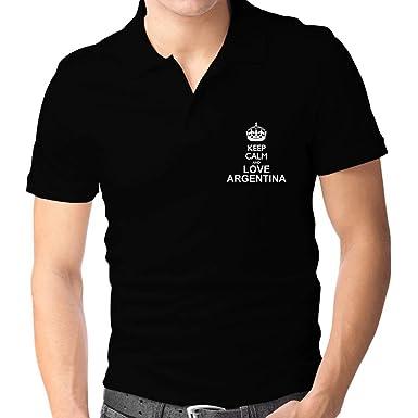 Teeburon Keep Calm and Love Argentina Polo Camisa: Amazon.es: Ropa ...