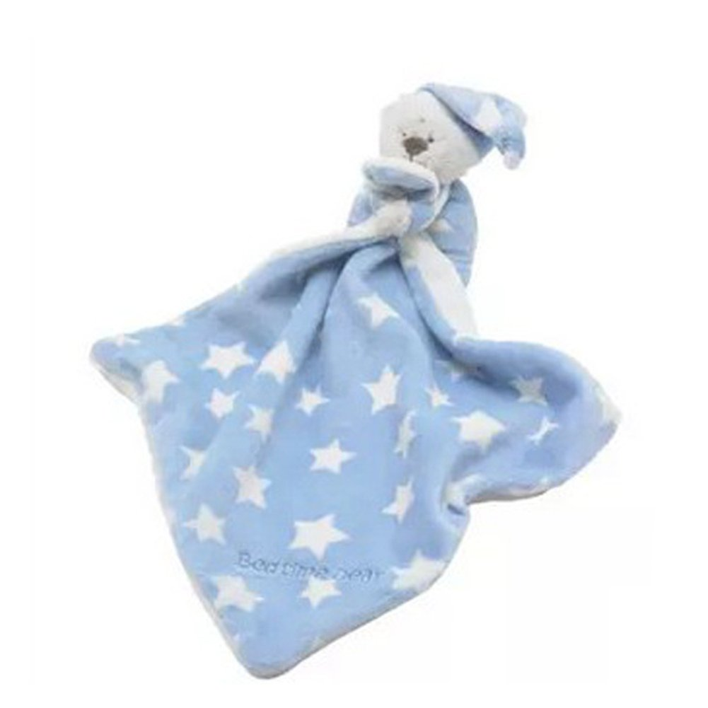 Amazon.com : Amyove Rattle Soft Bear Appease Baby Towel Toys for Newborns Soothe Reassure Teddy Bear Blankie Towel Rattles Clam Toy Best Gift for Kids blue ...