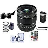 Fujifilm XF 16mm F1.4 R (Weather Resistant) Lens - Bundle w/67mm Filter Kit, Lens Case, Flex Shade, Cleaning Kit and Professional Software Package