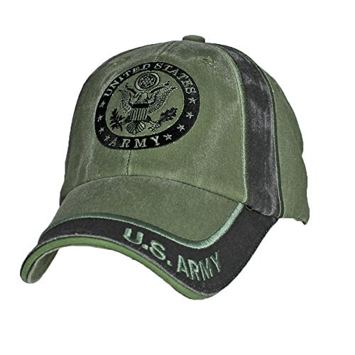 Eagle Crest U.S. Army Insignia OD Green Baseball Cap