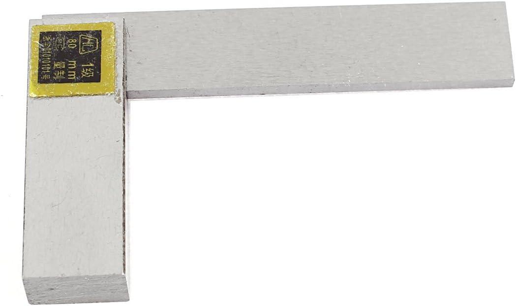 uxcell 直角定規 完全スコヤ L形ルーラー 90度 80mm x 50mmスケール 78mm長
