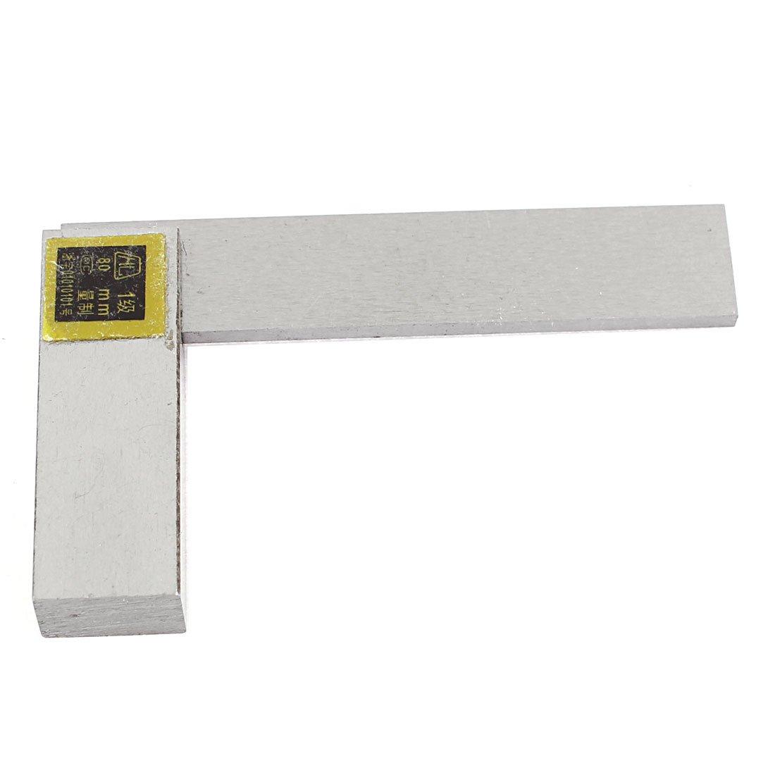 Escuadra met/álica de 90 grados con escala m/étrica de 80/mm de sourcingmap/®