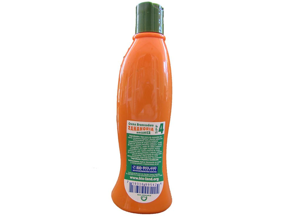 Amazon.com : Organic Carrot Tanning Cream Spf4./ Crema Bronceadora Zanahoria 4 SPF 250ml : Beauty