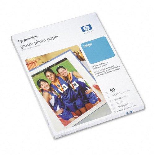 Hewlett Packard Premium Photo Paper, Glossy, Letter, 50 Sheets (Paper Letter Glossy Photo Premium)