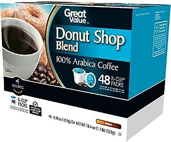 48-Pk. Great Value Donut Shop Blend Roast Coffee K-Cup Packs