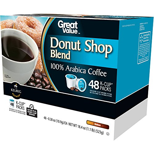 Close Value Donut Shop Blend Medium Roast Coffee K-Cup Packs, 0.38 oz, 48 count