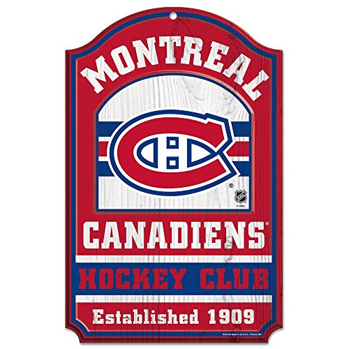 WinCraft NHL Montreal Canadiens 20399014 Wood Sign, 11