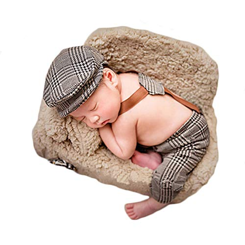 Baby Photography Props Boy Girl Blanket Stretch Wrap Swaddle for Photo Shoot Hat Blanket Outfits Newborn Photography (Figure I) ()