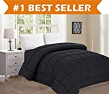 Luxury Comforter on Amazon! Elegant Comfort Ultra Plush Down Alternative Double-Filled Comforter%100 Hypoallergenic, King/Cal King, Black